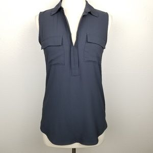 Loft | sleeveless | collared | blouse